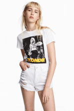 Printed T-shirt - White - Ladies | H&M CN 1