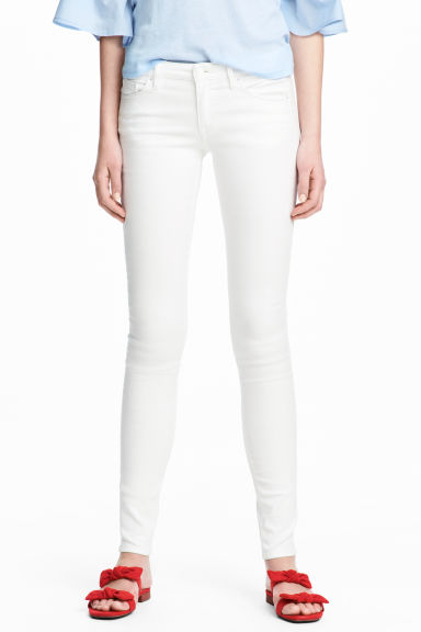 Super Skinny Low Jeans - White denim - Ladies | H&M
