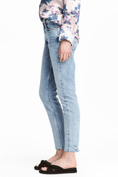 Slim Regular Boyfriend Jeans - Light denim blue - Ladies | H&M CN