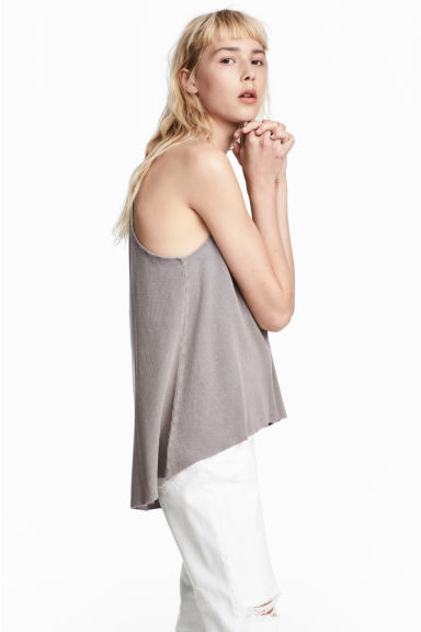 Ribbed jersey sleeveless top Model