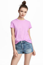 Cotton T-shirt - Lilac - Ladies | H&M CA 1