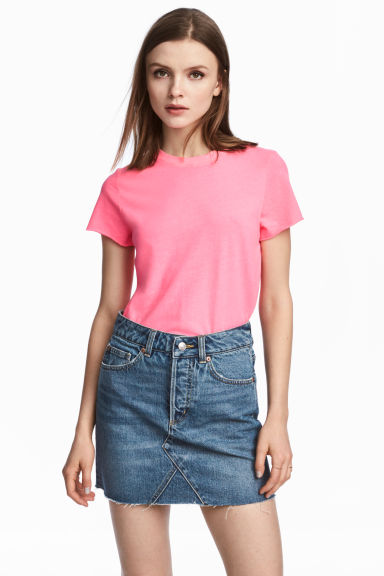 Cotton T-shirt - Pink - Ladies | H&M CA 1
