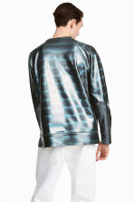 Coated sweatshirt - Black/Metallic - Men | H&M GB 1