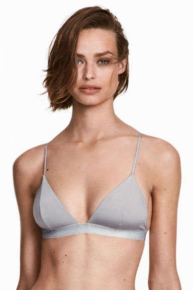 Triangle bikini top - Grey - Ladies | H&M 1