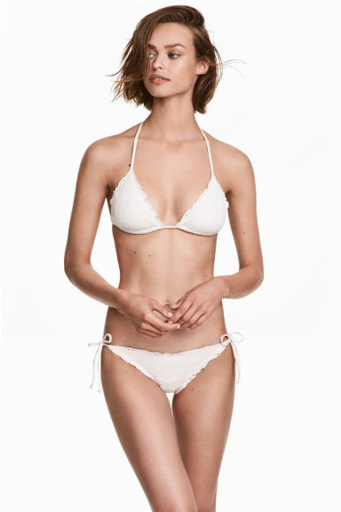 Tie tanga bikini bottoms - Natural white - Ladies | H&M