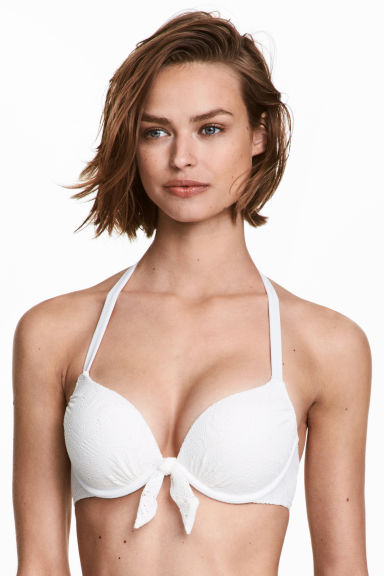 Super push-up bikini top - White - Ladies | H&M 1