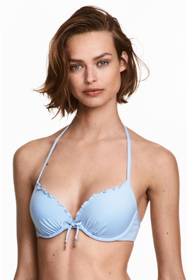 Push-up bikini top - Light blue - Ladies | H&M 1