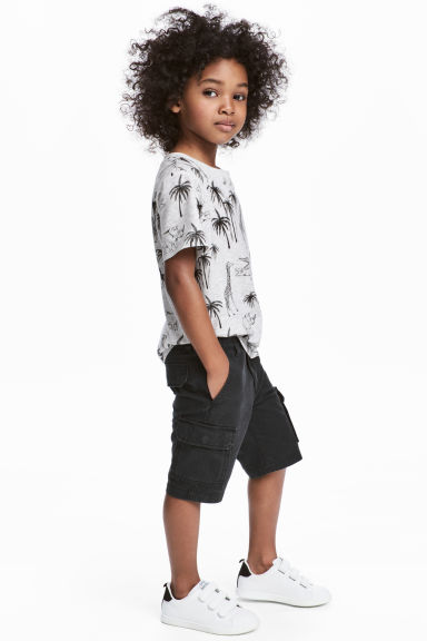 卡其短褲 - Black - Kids | H&M 1