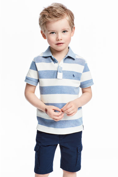 Polo shirt - Blue/White/Striped - Kids | H&M CN 1