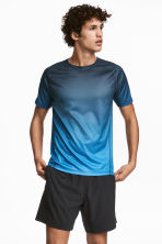 Short-sleeved running top - Dark turquoise - Men | H&M 1