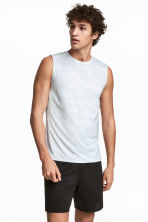 Sports vest top - White/Patterned - Men | H&M 1