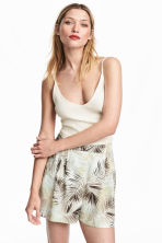 Wide shorts - Natural white/Leaf  - Ladies | H&M CN 1