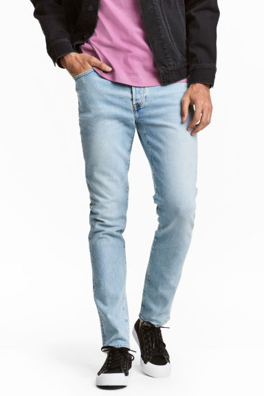 Slim Low Jeans - Light denim blue - Men | H&M IE
