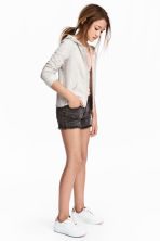 Short en twill - Noir washed out -  | H&M FR 1