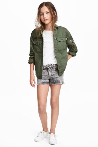 Twill shorts - Grey washed out - Kids | H&M CN 1