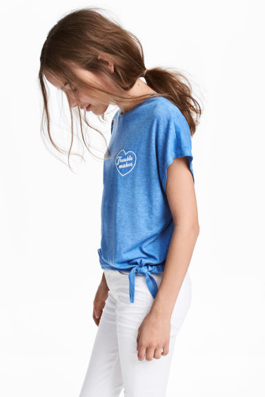 Tie top - Blue marl - Kids | H&M CN