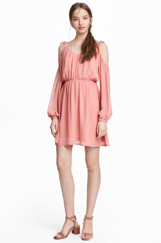 Vestido de gasa - Rosa coral - | H&M ES