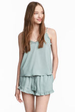 Satin shorts - Dusky green - Ladies | H&M CA 1