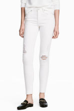 Skinny Regular Ankle Jeans - White denim - Ladies | H&M 1