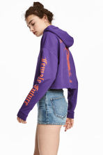 Hooded crop top - Purple - Ladies | H&M CN 1