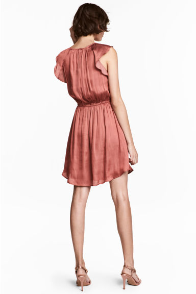 Dress with frilled sleeves - Vintage pink -  | H&M CA 1