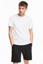 Round-neck T-shirt Regular fit - White - Men | H&M CN 1