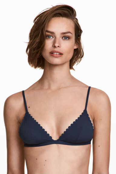 Triangle bikini top - Dark blue - Ladies | H&M 1
