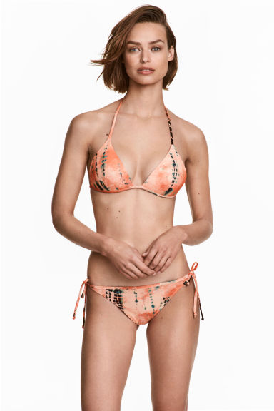 Tie-tanga bikini bottoms - Apricot/Patterned - Ladies | H&M 1