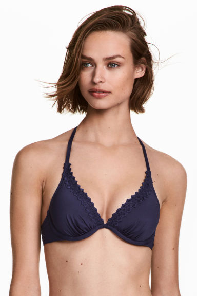 Padded bikini top - Dark blue - Ladies | H&M IE