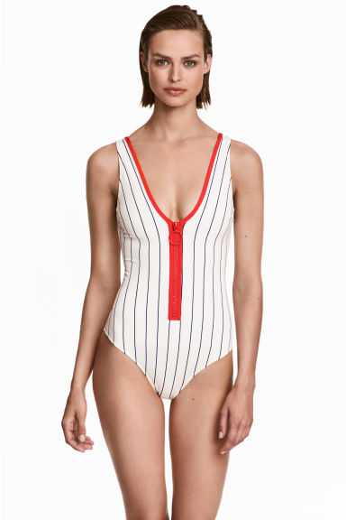 Swimsuit with a zip Model