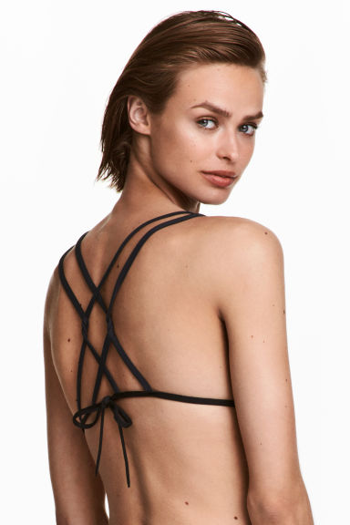 Triangle bikini top - Black - Ladies | H&M CA