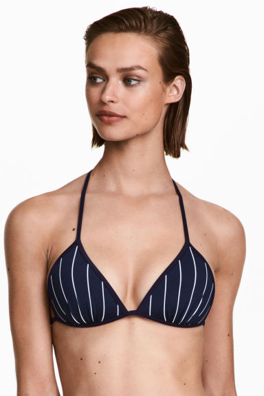Top bikini - Blu scuro/bianco righe - DONNA | H&M IT 1