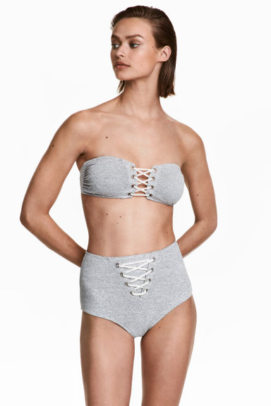 Bikini bottoms High waist - Grey marl - Ladies | H&M 1