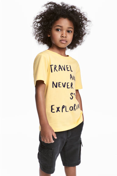 Printed T-shirt - Yellow - Kids | H&M 1