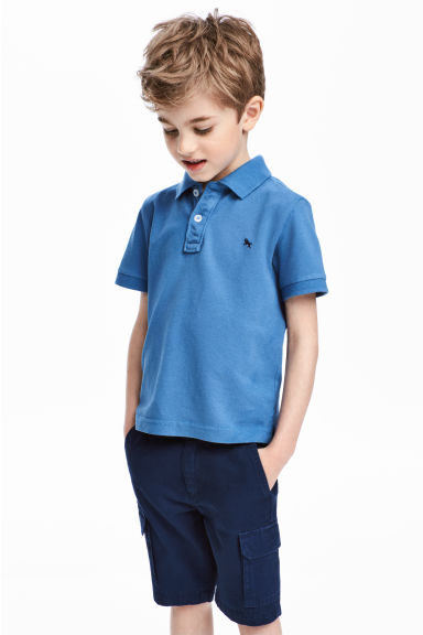 Piqué polo shirt - Blue -  | H&M 1