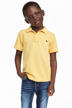 Piqué polo shirt - Yellow -  | H&M 1
