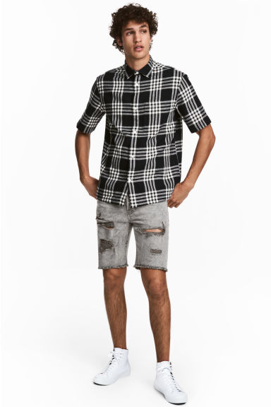 Denim shorts - Grey denim - Men | H&M 1