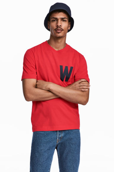 Printed T-shirt - Red - Men | H&M CN 1