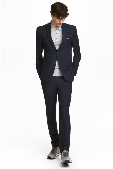 Wool suit trousers Slim fit Model