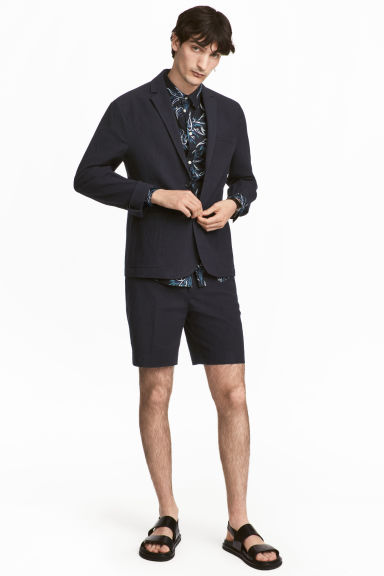 Cotton shorts - Dark blue - Men | H&M 1