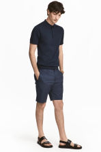 Premium cotton city shorts - Dark blue/Patterned - Men | H&M CA 1