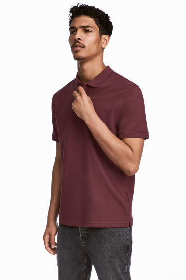 Polo shirt - Burgundy - Men | H&M 1