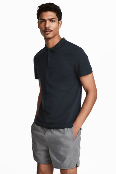 Polo shirt - Dark blue - Men | H&M CN 1