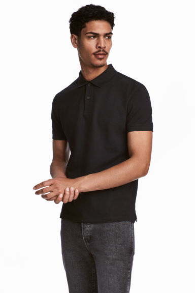 Polo in piqué - Nero - UOMO | H&M IT 1