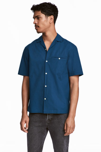 Resort shirt Relaxed fit - Navy blue - Men | H&M CN 1