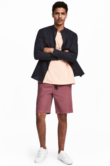 Knee-length cotton shorts - Pale red - Men | H&M