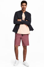 Knee-length cotton shorts - Pale red - Men | H&M CN 1