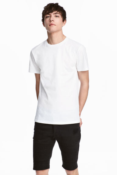 Round-necked T-shirt - White - Men | H&M GB 1