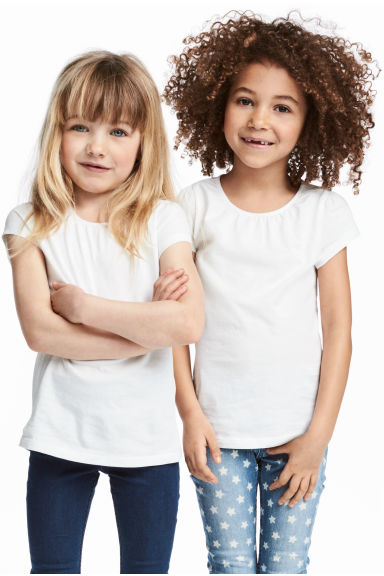 2-pack jersey tops - White - Kids | H&M 1