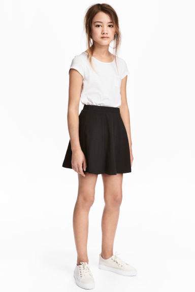 Jersey skirt - Black -  | H&M CA 1